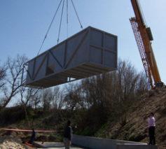Plantas de tratamiento de aguas residuales contenerizadas equipadas con tecnología MBBR Bidatek